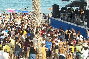 Celebrants Enjoy Beach Salsa