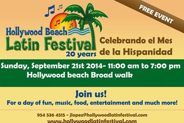 Click to the annual Hollywood Beach Latin Festival web site