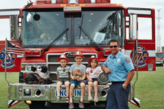 Kids Mount Fire Engine
