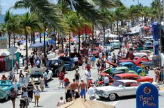 Classic Car Show on Fort Lauderdale Beach