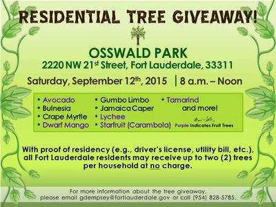 Click to the Fort Lauderdale Quarterly Tree Giveaway web site