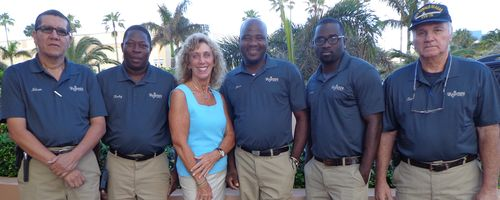 Regency Tower Maintenance Crew And President Eileen Bendis
