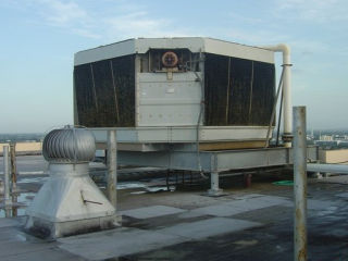 Old Regency Tower Rooftop Cooling Tower