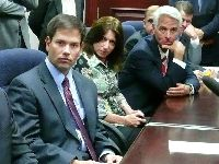 Former Statehouse Speaker Marco Rubio, Representative Ellyn Bogdanoff and Governor Charlie Crist