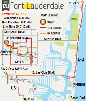 Click to Course Map for 13.1 Marathon